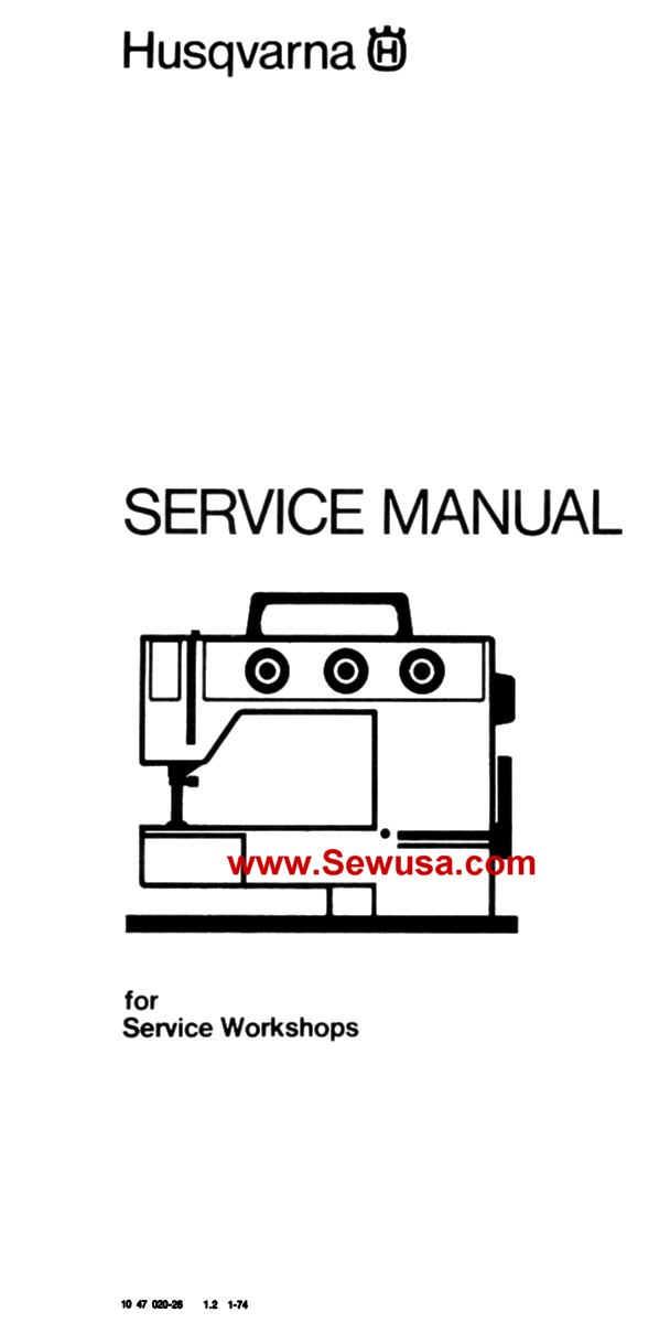 Viking Husqvarna Sewing Machine Service Manuals Inspiration Husqvarna Viking Sewing Machine Repair Manual